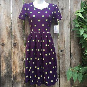 LuLaRoe Amelia Dress size 2XS XXS Purple